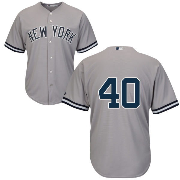 Youth New York Yankees #40 Luis Severino Gray Authentic Home Only Number Cool Baseball Jersey
