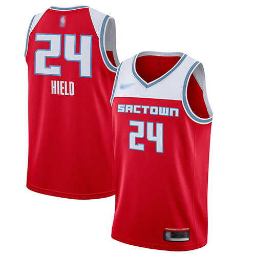 Men's Nike Sacramento Kings #24 Buddy Hield Red Basketball Swingman City Edition 2019 20 Jersey