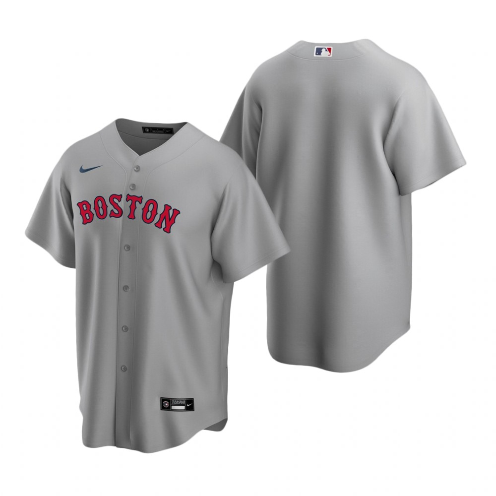 Men's Nike Boston Red Sox Blank Gray Road Stitched Baseball Jersey