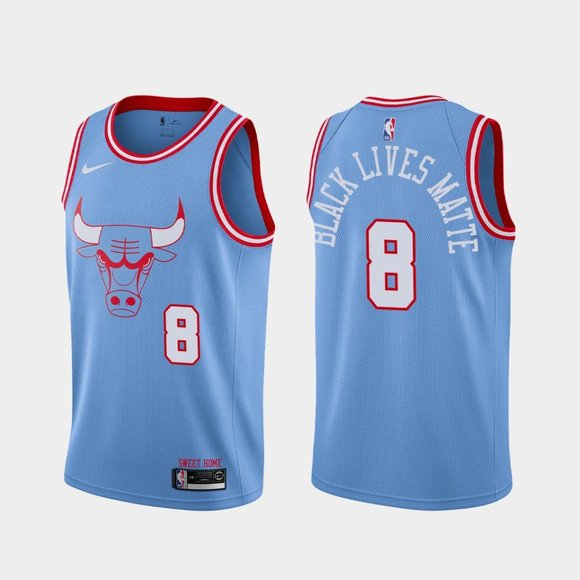 Chicago Bulls #8 Zach LaVine BLM Jersey City